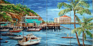 tile mural, Avalon Bay