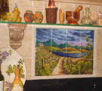 Sunrise on Vineyard, tile mural